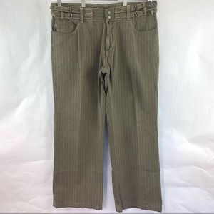 Just Cavallii Pants Straight Buckled Waist Italy